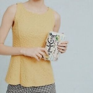 • ANTHROPOLOGIE X POSTMARK • yellow textured top